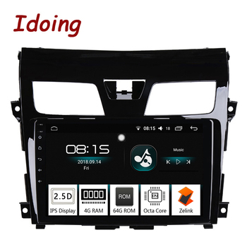 "Idoing 10.2""2.5D IPS 1 din Car Android Radio Multimedia Player Fit Nissan teana 2013-2016 4G+64G Octa Core GPS Navigation"