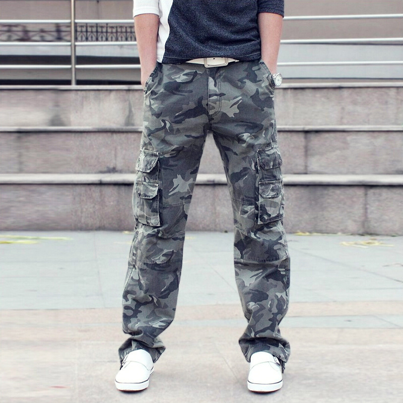 New Style Fashion Bib Overall MEN'S Casual Pants Camouflage Trousers Zk001