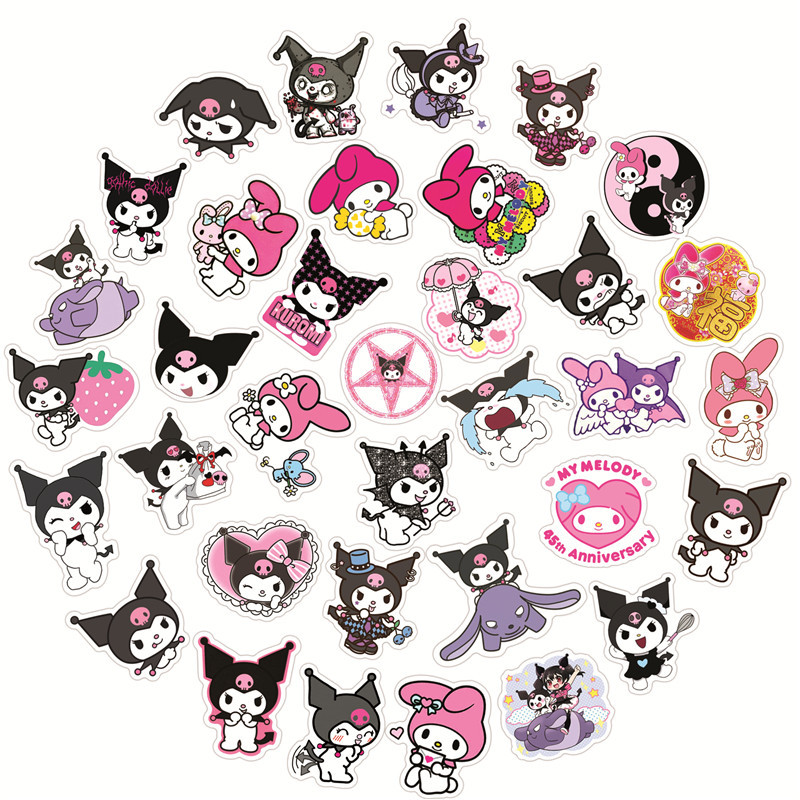 50pcs Anime Cool Lome Graffiti Stickers Luggage Laptop Water Cup Motorcycle Waterproof Sticker Cute Girl Toy