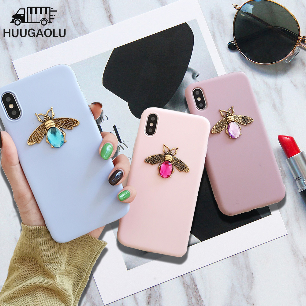 Bee Case For Coque Samsung Galaxy S10 S20 S9 S8 S7 A50 A51 A70 A71 A7 A30S A40 A20E Note 10 Plus Etui Funda Silicone Cover Coque