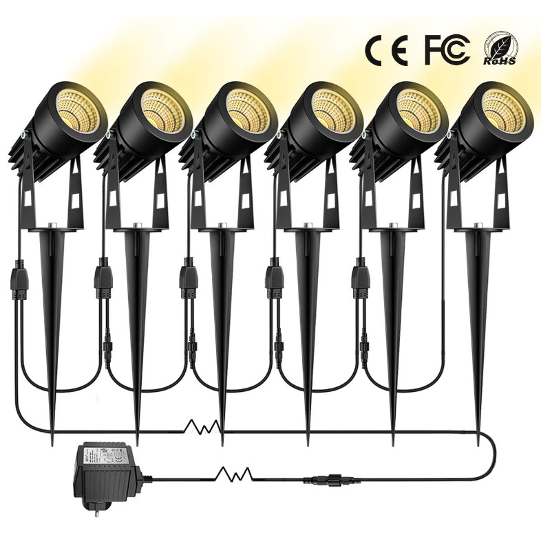 LED Pin Light Lawn Light One Dragging Four Spotlight LED Floodlight Led One to Six Courtyard Lights One Dragging Four Grass 1