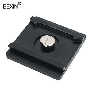Image 5 - QR01 kamera plakası quick release plate tripod kafa montaj plakası kamera standı ile 1/4 inç dslr kamera için vida arca isviçre kelepçe