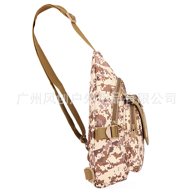 New Style Tactical Portable Chest Pack Camouflage Messenger Bag Hamburg Chest Bag Men And Women Outdoor Casual Riding Sports Che