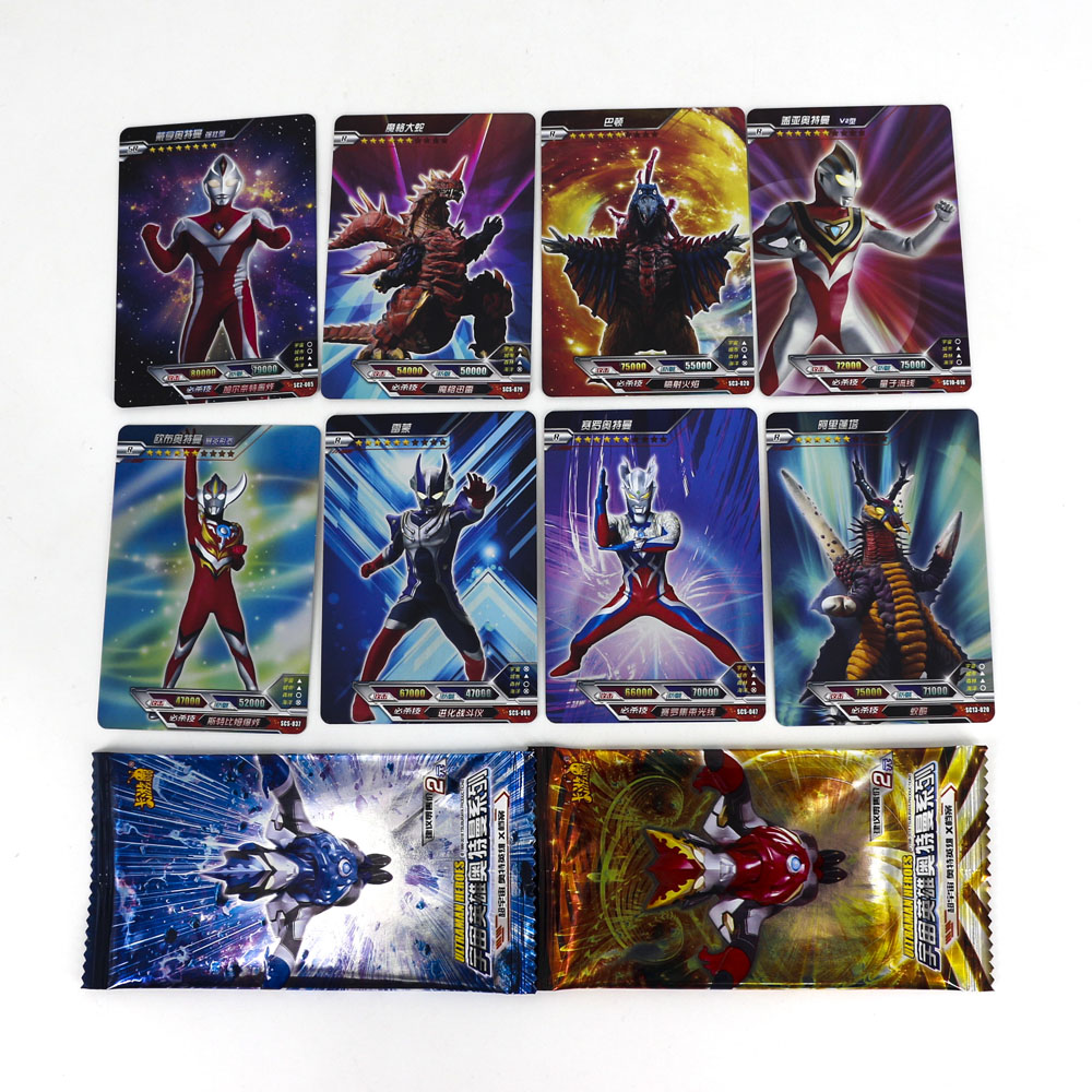 Hot Altman High Quality Ultraman Shining Card 8 120 240 Flash Cards Kaiju Collection Board Game Toys For Kids