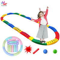 Children Balance Toy Stepping Massage Balance Tactile Board Indoor Curved Board Balance Training Game Outdoor Sport Toy for Kids