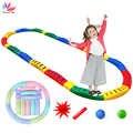Juguete de equilibrio para niños, tabla táctil de masaje de pasos, juego de entrenamiento de equilibrio de tablero curvo interior, juguete deportivo al aire libre para niños