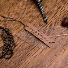Etiquetas feitas sob encomenda do tamanho do casamento seu logotipo personaliza a etiqueta da etiqueta do sleutellables 18x80mm kraft/etiqueta branca da corda do cânhamo