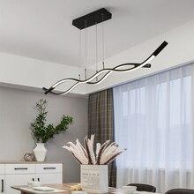Wave shape modern led chandelier for dining kitchen room shop home decoration 110-240V pendant chandelier free shipping wave shop ru