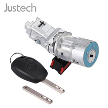 Justech Ignition Switch Lock Barrel Starter Cylinder 8200214168 12V 4 Pins For Renault Clio MK III