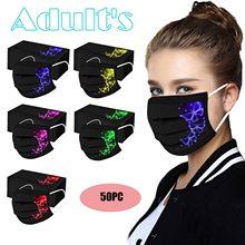 Masque à imprimé masque jetable adulto 50pc borboleta impresso máscara protetora descartável máscaras faciais