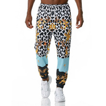 Joggers-Pants Streetwear-Trousers Harajuku Luxury Drawstring Floral-Print Royal