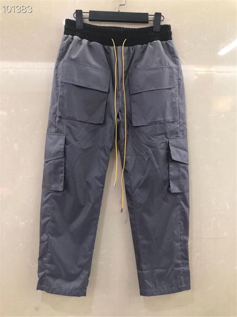RHUDE PANTS MEN WOMEN 1:1 High Quality Pants Full Length Hip Hop Streetwear Mens RHUDE Trousers