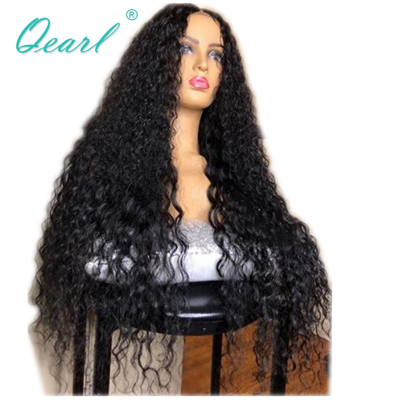Curly Lace Front Human Hair Wigs PrePlucked 180 250 350 Density Lace Wig For Black Women Remy Hair With Baby Hairs 13x4 Qearl
