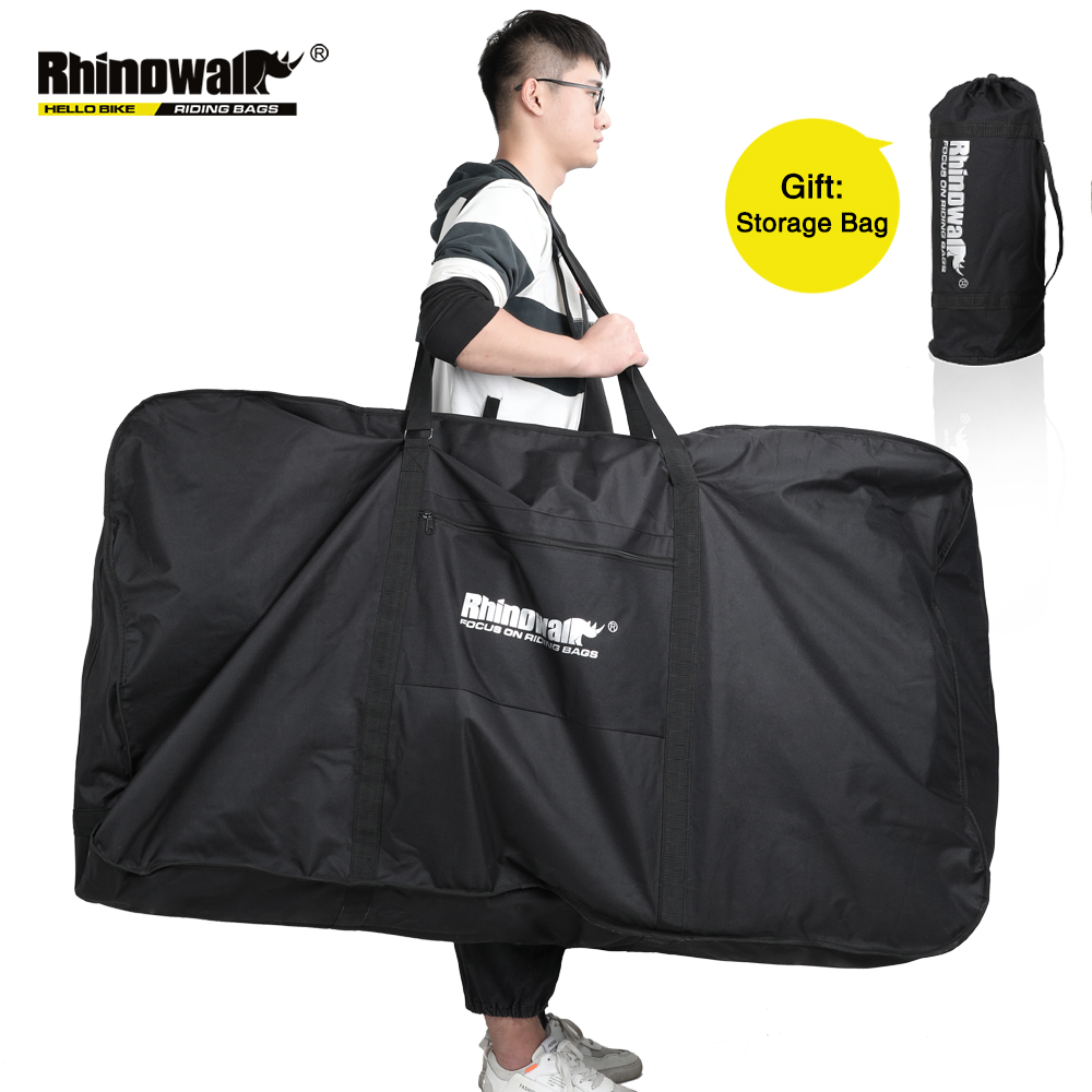 Rhinowalk Folding Bicycle Carry Bag for 26-29 Inch Portable Cycling <font><b>Bike</b></font> Transport <font><b>Case</b></font> Travel Bycicle Accessories Outdoor Sport image