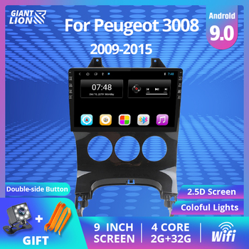 2DIN Android 9.0 Car Radio For Peugeot 3008 2009-2015 Car Multimedia Video Stereo Player GPS Navigation Autoradio DVD Player image