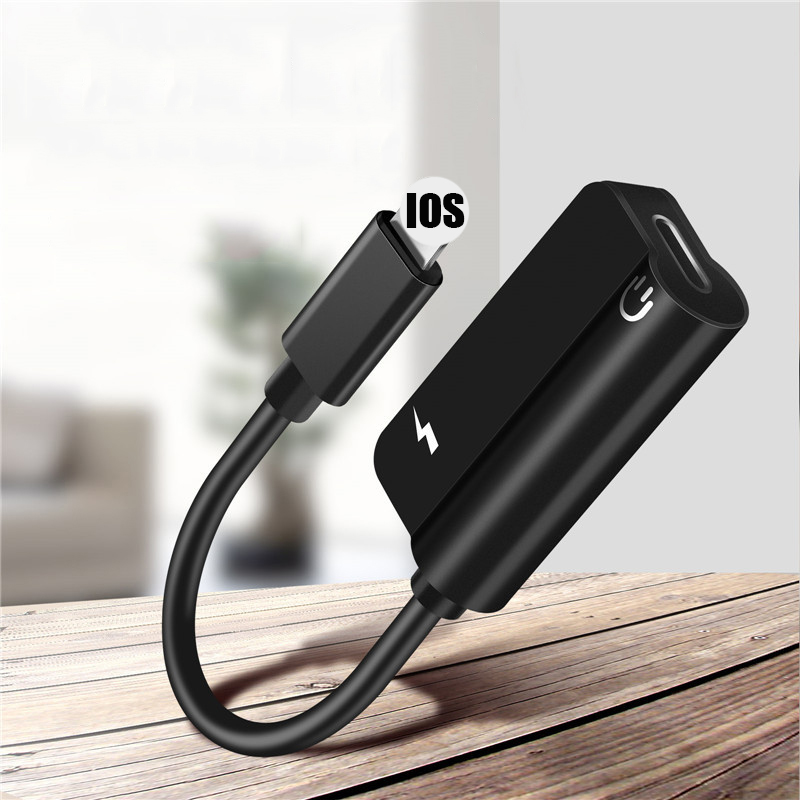 Aux Audio <font><b>For</b></font> Lighting to 3.5mm Jack <font><b>Connector</b></font> Earphone <font><b>Headphone</b></font> OTG Adapter <font><b>For</b></font> <font><b>iPhone</b></font> 11 Pro Xs Max Xr <font><b>X</b></font> 8 7 Splitter image