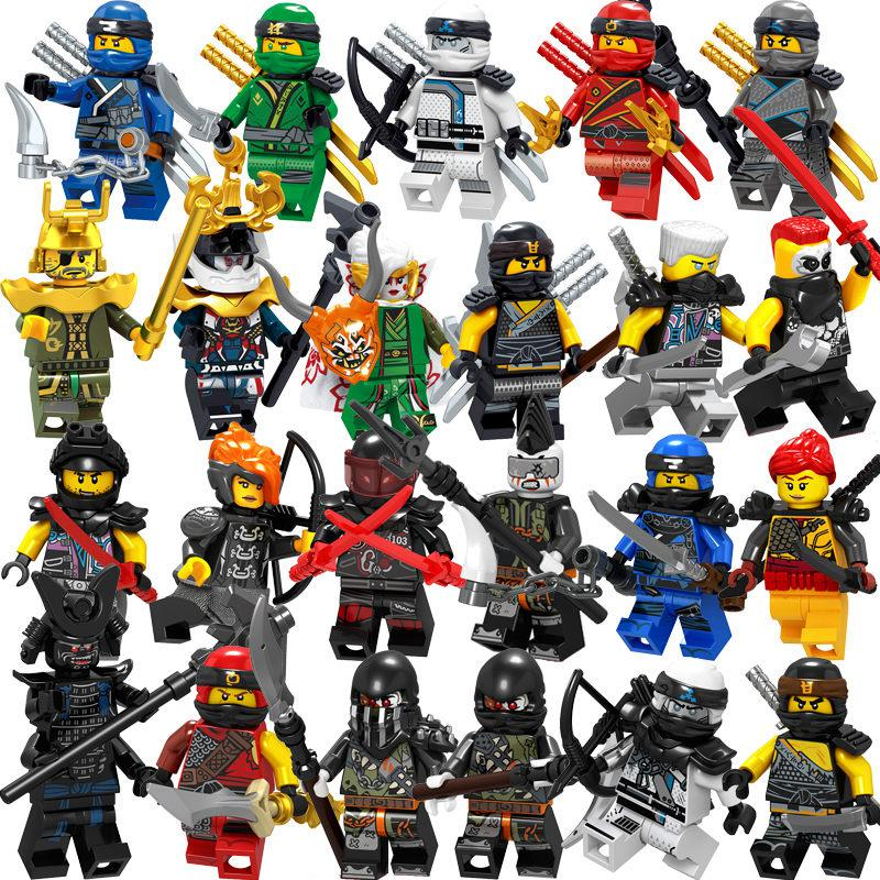 2019 Compatible With LegoINGlys NinjagoING Sets NINJA Heroes Kai Jay Cole Zane Nya Lloyd With Weapons Action Toys For Children