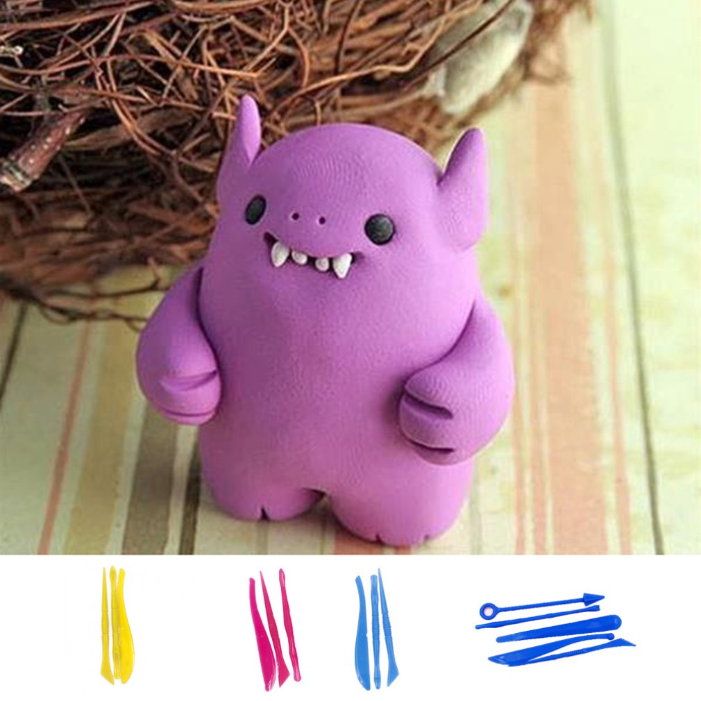 Compact Kids Toys Plasticine Ultra-light Clay DIY Utility Knife Slime Cardboard Blister Slime Supplies Toys For Children