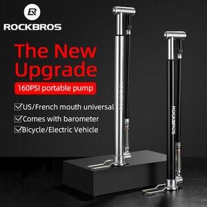 ROCKBROS насос высокого давления для ног MTB дорожный велосипед электрический велосипед мотоцикл ручной насос для шин AV/FV портативный воздушный ...
