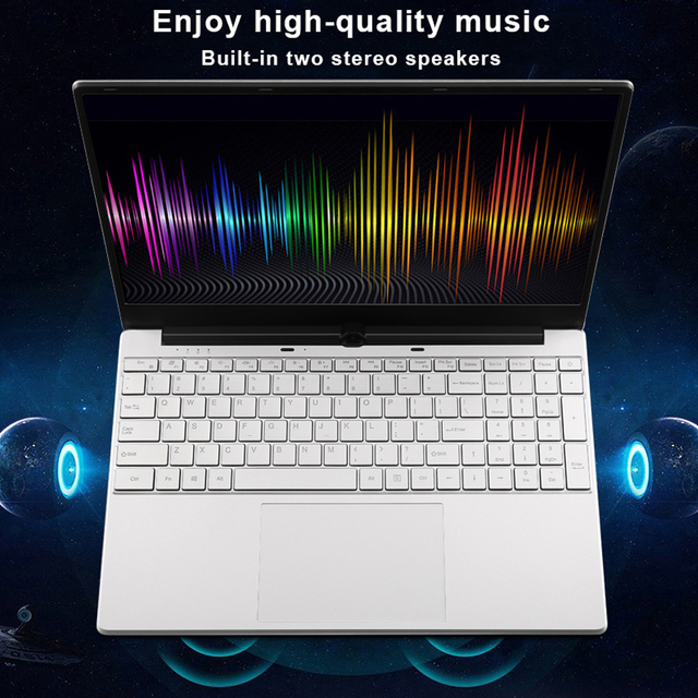 Max RAM 32GB Rom 2TB SSD Ultrabook Gaming Laptop Computer 2.4G/5.0G Wifi Bluetooth Intel Celeron 5205U Metal Windows 10 Laptop 4