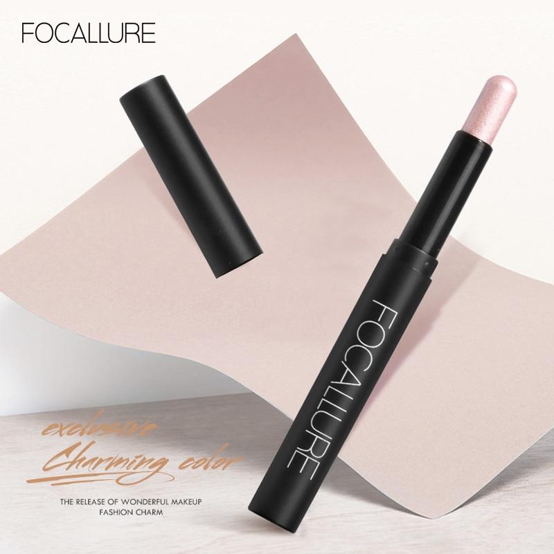 FOCALLURE Eyeshadow & Eyeliner Combination Shimmer Long-wearing Smooth Highllighter Makeup Shadows