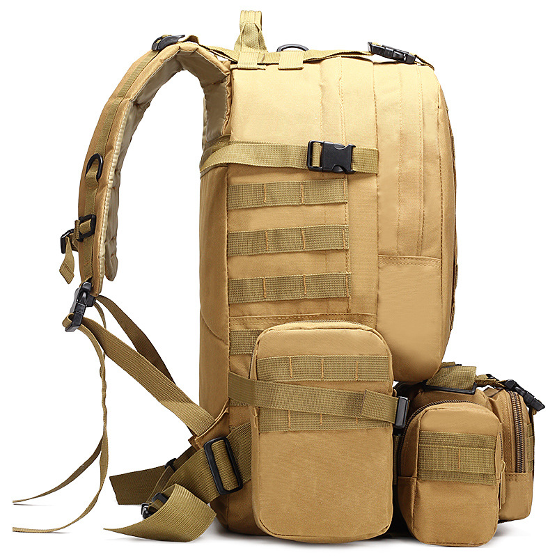 Outdoor Tactical Camouflage Backpacks 4 in 1 Military Bags Army Rucksack Men Sport Bag Camping Hiking Travel Climbing Bag 50L