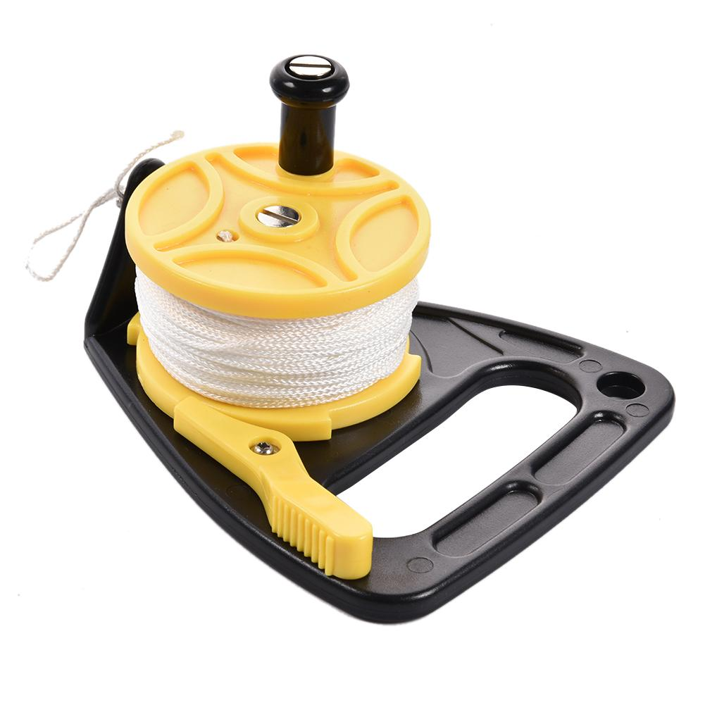 Diving Reel Outdoor Swimming Accessories With Thumb Stopper And High Visibility White Line For Spear Fishing 46M
