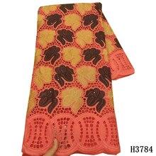 Новое поступление, 100% хлопчатобумажная кружевная ткань, швейцарская вуаль, кружевное хлопковое кружево с вышивкой, африканская кружевная т...