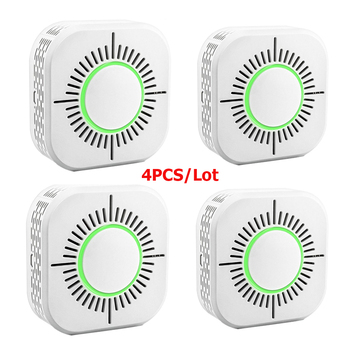 RF433 Smoke Detector,Wireless Smoke Fire Alarm Sensor,Security Protection Alarm for Home Automation,Work with RF Bridge