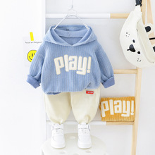 Autumn Baby Boy Clothes Sets Printed Letter Top+ Pants 2Pcs Outfits Casual Kids Clothing Sets Children's Sportswear Boys Suits kids tracksuits 2018 new autumn boys clothes sets letter printed hoodies