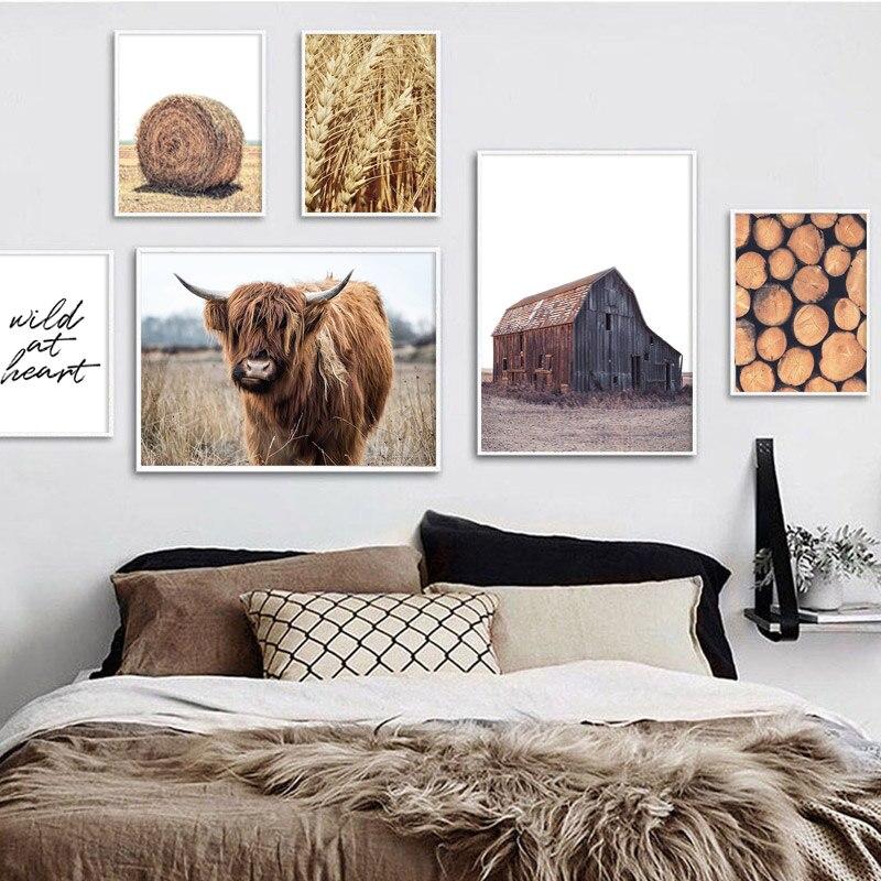 Highland Cow Photo Frame 6 x 4 Landscape or Portrait Farming Gift 179