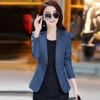 цена Office Lady Elegant Short Blazers Coats New Autumn Fashion Korean Style Small Suit Slim Jackets Women Blazer  Navy Elegant онлайн в 2017 году
