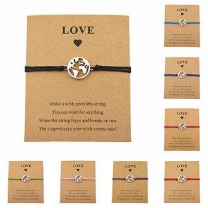 New Tibetan Globe World Map Charm Make a Wish Bracelets for Women Men Friend Birthday Souvenir Earth Travel Gifts Jewelry