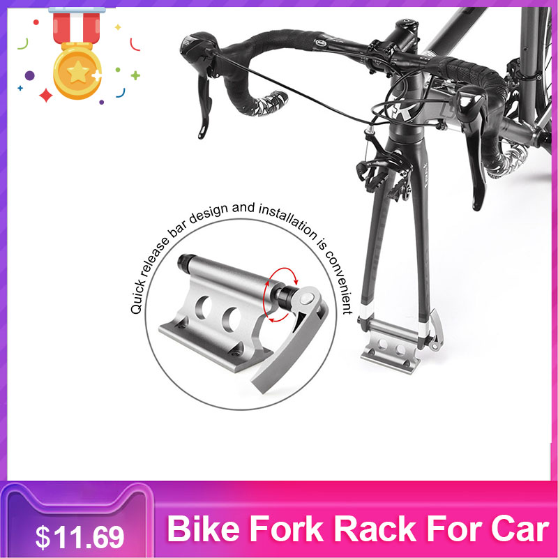 Bike Fork Rack Holder Stand Portable Bike Front Fork Clamp For Car Travelling Riding Supplies Accessories For Bicycle