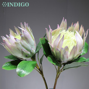 Image 2 - INDIGO  2 pcs Light Purple Protea cynaroides Large Size Real Touch Artificial Flower Wedding Flower Party Event Dropshipping