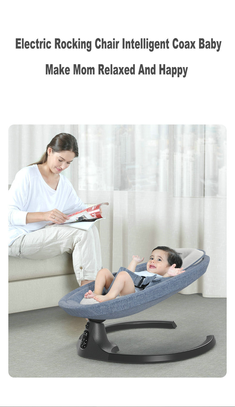 H8e745058865d4fa69a055c526fff4d13P Baby Swing Multifunctional Aluminum Alloy Baby Rocking Chair Electric Baby Cradle With Remote Control Cradle Rocking Chair