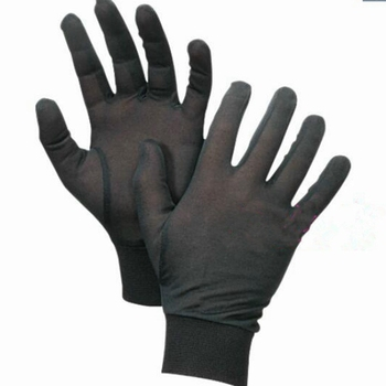 1pair Pure Silk Black Liner Inner Thin Gloves Bike Motorcycle Soft Sport Driving Cycling Party One Size CYF9165 - discount item  30% OFF Gloves & Mittens
