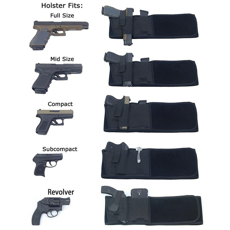 Taktikal sarung pistol tentera sarung mudah alih tersembunyi tali - Memburu - Foto 3