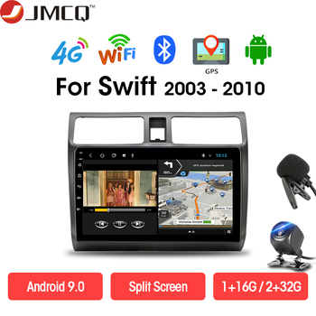 цена на JMCQ Android 9.0 DSP 2G+32G for Suzuki Swif 2003-2010 Car Radio Multimedia Player 4G network Navigation 2 din GPS DVD Head Unit