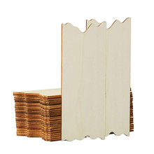 24 Pcs Holz Stück Umwelt Anzahl Platte Holz Chips für Crafting Malerei