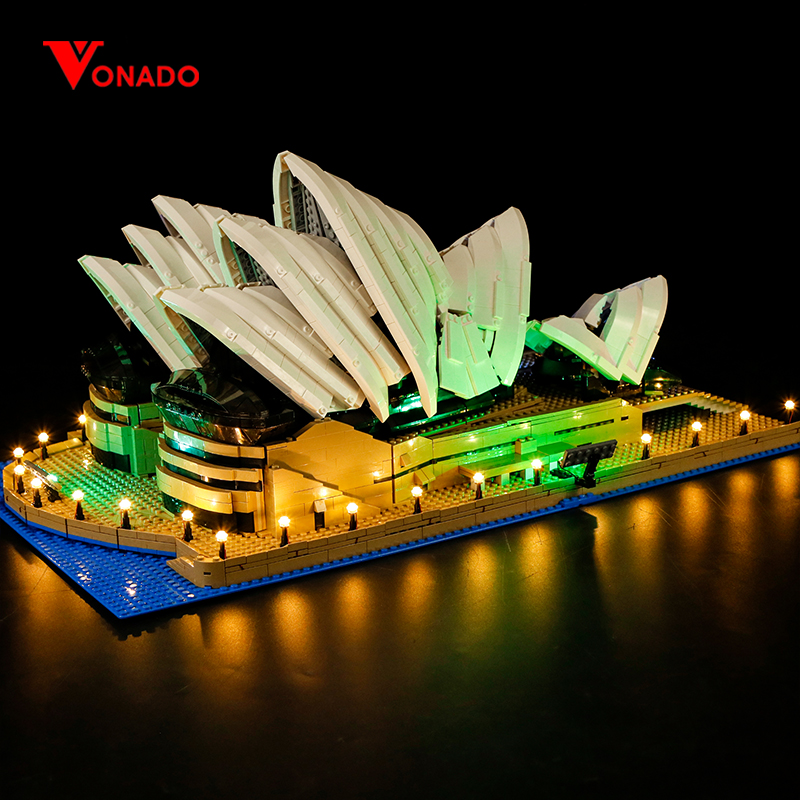 LED light up kit Compatible for lego 10234 17003 City Series <font><b>Sydney</b></font> Opera House building bricks (only light with Battery box) image