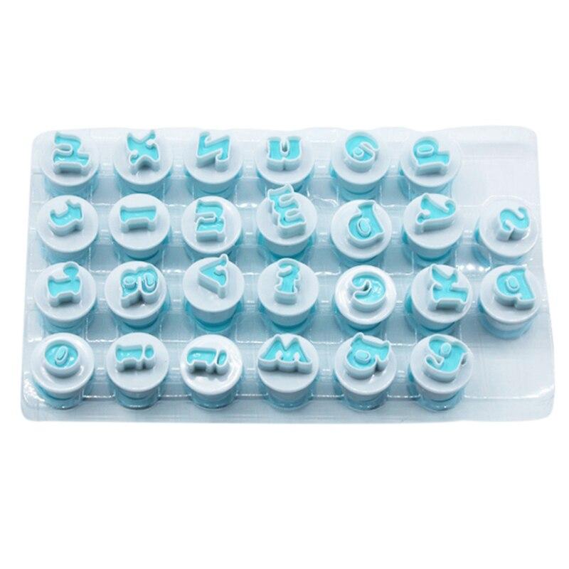 26 İngilizce mektup bisküvi kesici DIY kek bisküvi pişirme aracı dekorasyon kalıp title=