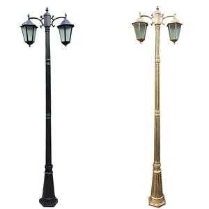 Image 1 - (H≈ 2.5 メートル) ヨーロッパ肥厚ランプポール 2 ダイキャストアルミガーデンライト屋外ガーデン道路照明照明