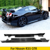 Voor Nissan R35 Gtr Carbon Fiber Side Rok Deur Side Splitter Racing Body Kits Trim Drift Deel 2009-2015