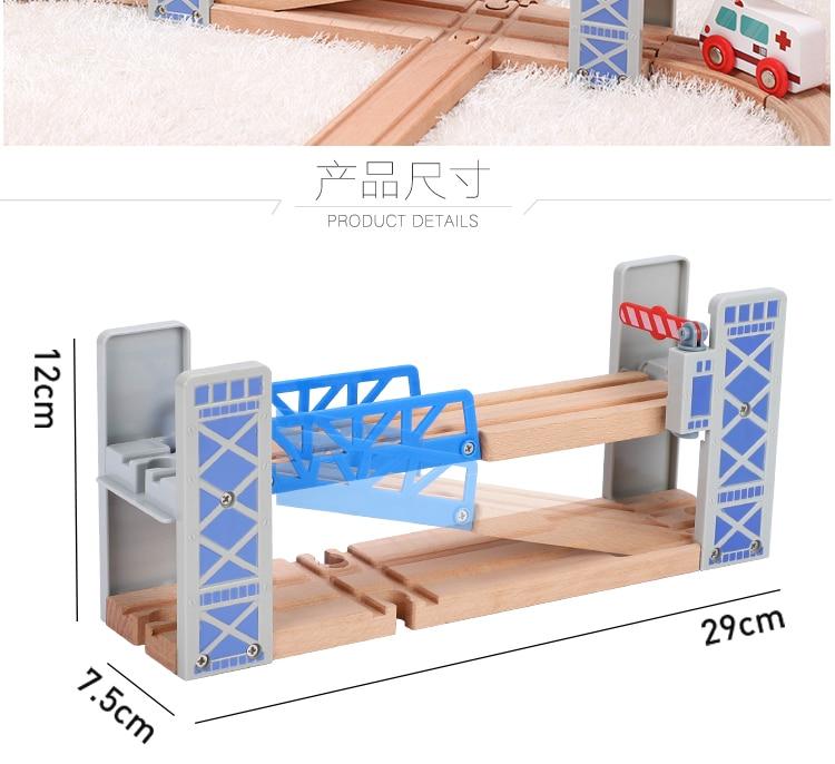 Cerca de madeira duplo elevador ponte ponte