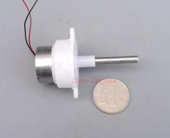 DC 6V-12V 48RPM Slow Speed Mini 300 Turbo Worm Gear Motor Micro Gearbox Reducer 5mm diameter Long Shaft DIY Toy Model image