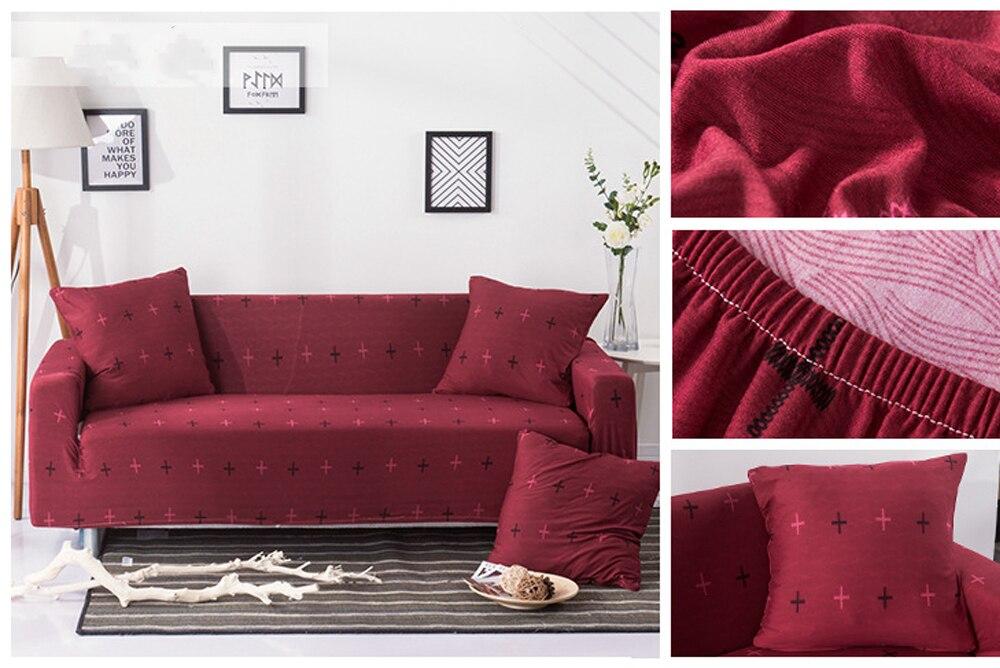 Peregangan Penutup Sectional Elastis Sofa Cover untuk Ruang Tamu Sofa Cover L Bentuk Kursi Cover Satu