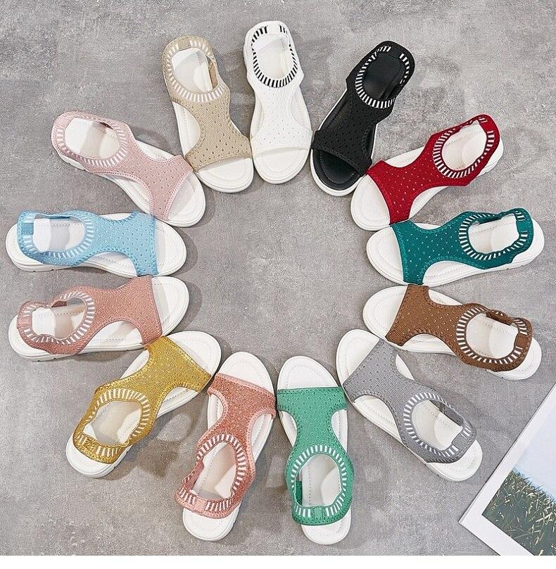 H8e74c61ddc9d4d0bb4ce6fc0eabd5bb6A WDZKN 2019 Sandals Women Summer Shoes Peep Toe Casual Flat Sandals Ladies Breathable Air Mesh Women Platform Sandals Sandalias