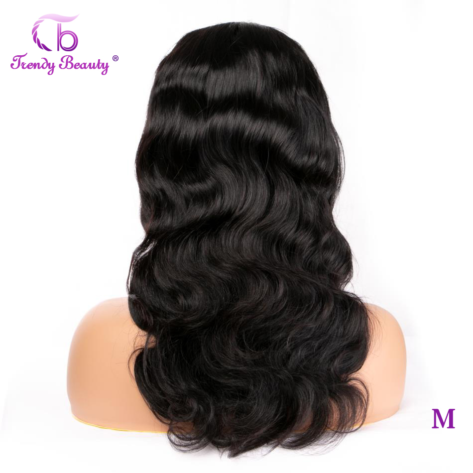 Trendy Beauty HAIR Body Wave Lace Front Wig Non-Remy 360 Lace Frontal Wig 150% Density 13X4 Brazilian Human Hair Wigs