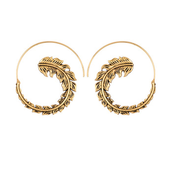 Earrings For Women Fashion Spiral Modern Heart Leaf Tree Vintage Golden Silver Glamour Trend Sexy Beach Vacation Dangler Earring 3